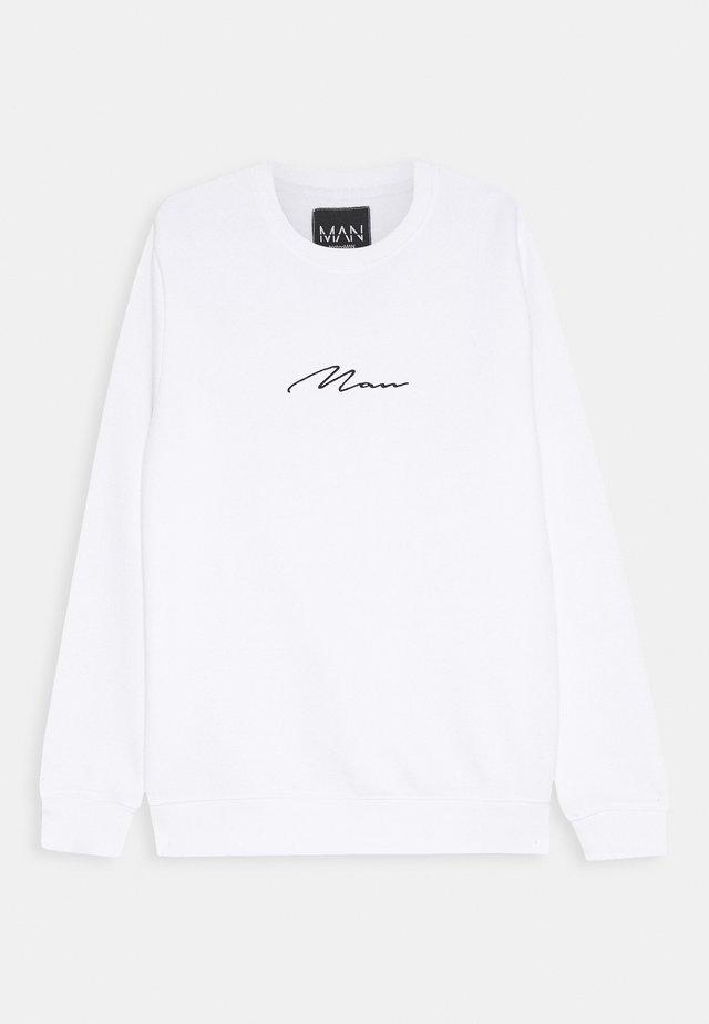 SIGNATURE EMBROIDERED  - Sweatshirts - white