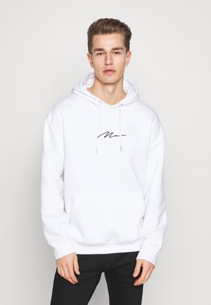 SIGNATURE EMBROIDERED OVERSIZED HOODIE - Sweat à capuche - white