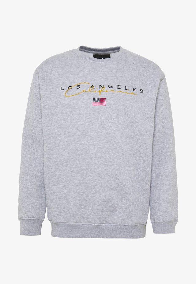 LOOSE LOS ANGELES VARSITY SWEAT WITH EMBROIDERY - Sweatshirt - grey marl
