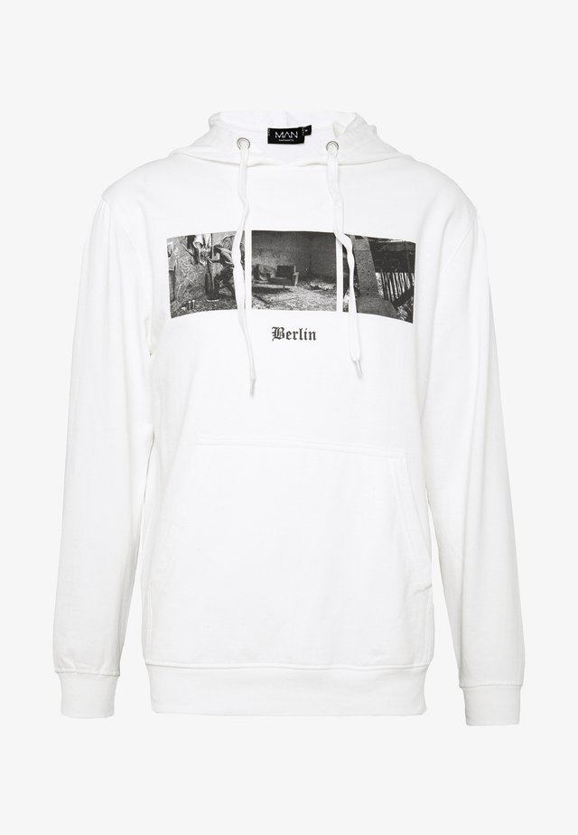 BERLIN PHOTO HOODIE - Bluza z kapturem - white