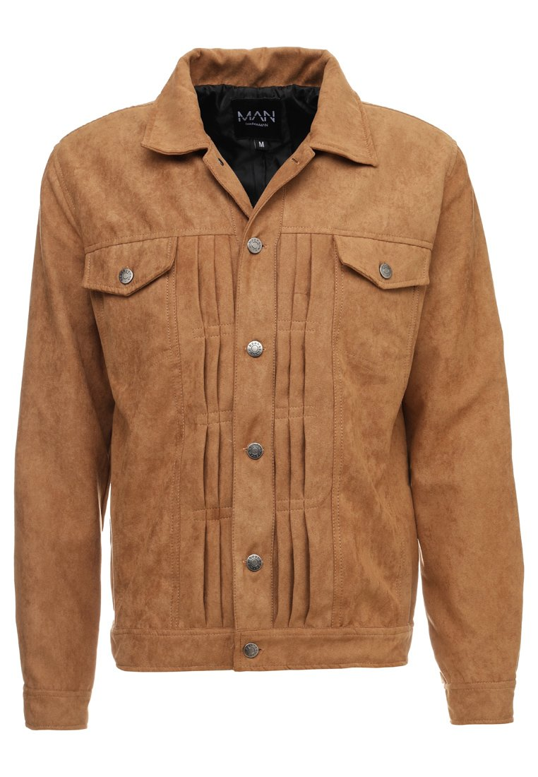 boohoo MAN - WESTERN WITH FRINGING - Faux leather jacket - tan