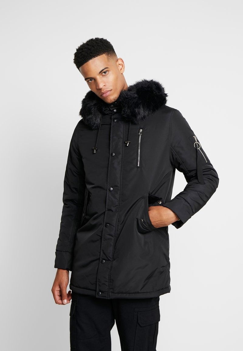 boohoo MAN - Abrigo de invierno - black