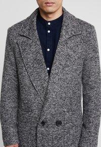 boohoo MAN - TEXTURED SMART OVERCOAT - Manteau classique - grey - 5