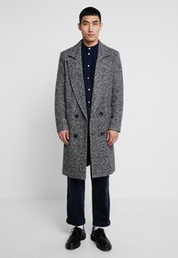 boohoo MAN - TEXTURED SMART OVERCOAT - Manteau classique - grey - 0