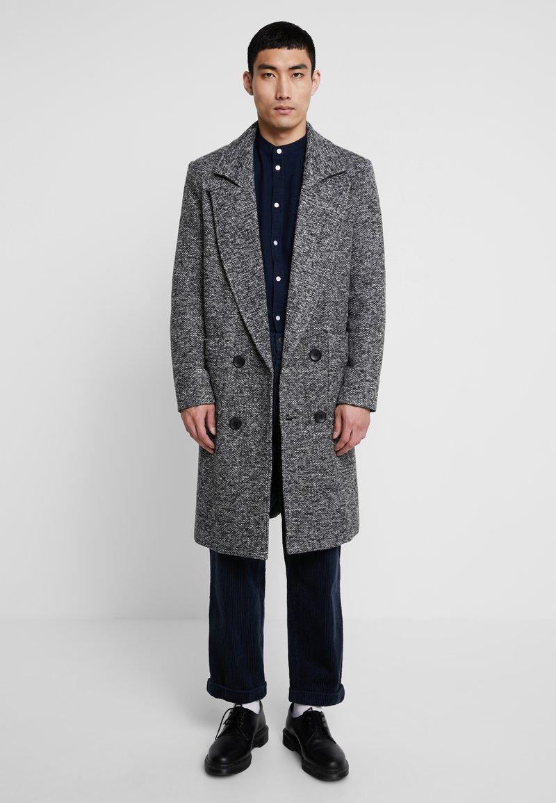 boohoo MAN - TEXTURED SMART OVERCOAT - Manteau classique - grey