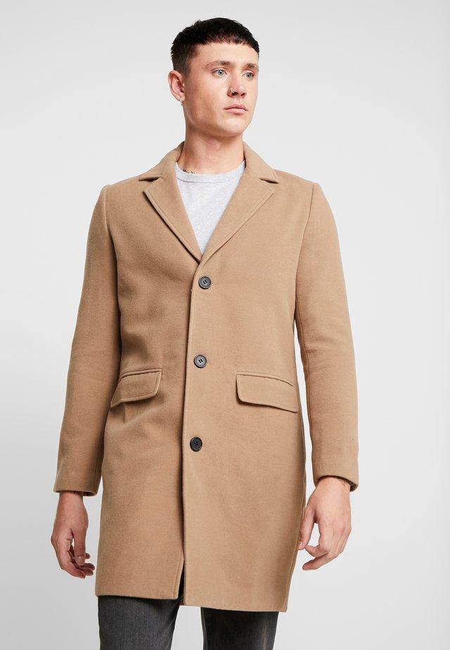 SINGLE BREASTED OVERCOAT - Zimní kabát - camel