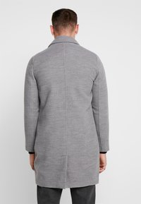 boohoo MAN - SINGLE BREASTED OVERCOAT - Villakangastakki - grey