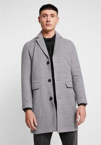 boohoo MAN - SINGLE BREASTED OVERCOAT - Kåpe / frakk - grey - 0