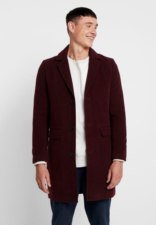 SINGLE BREASTED OVERCOAT - Cappotto classico - burgundy