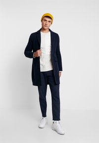 boohoo MAN - SINGLE BREASTED OVERCOAT - Classic coat - navy - 1