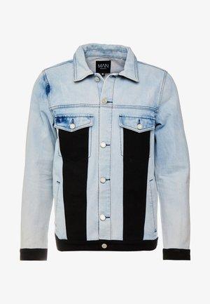 BLOCK PANEL JACKET - Džínová bunda - washed blue