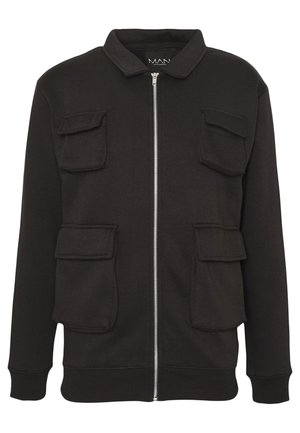 UTILITY 4 POCKET HARRINGTON JACKET - Summer jacket - black