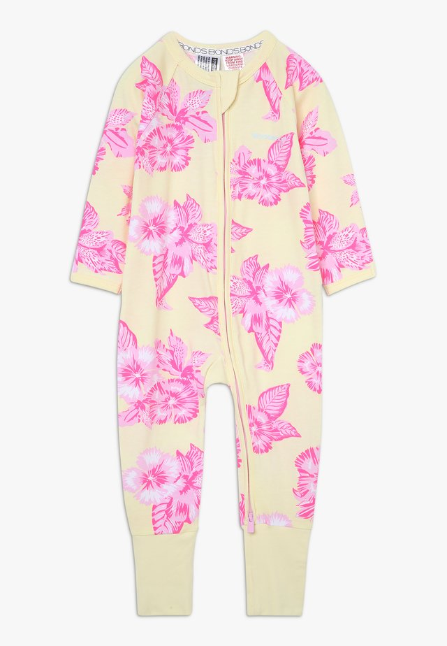 ZIP WONDERSUIT BABY - Mono - yellow