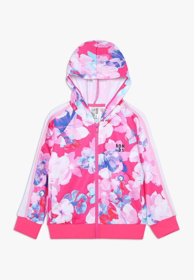 Bonds - LOGO ZIP HOODIE - veste en sweat zippée - hibiscus