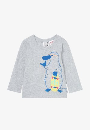 CREW TEE LOGO BABY - T-shirt à manches longues - mottled grey