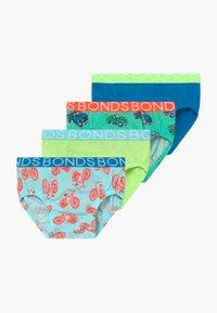 Bonds - BRIEF 4 PACK  - Kalhotky - green/blue - 0