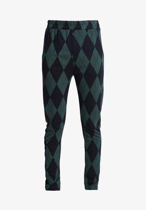 JAFFA - Trousers - green blue harlekin