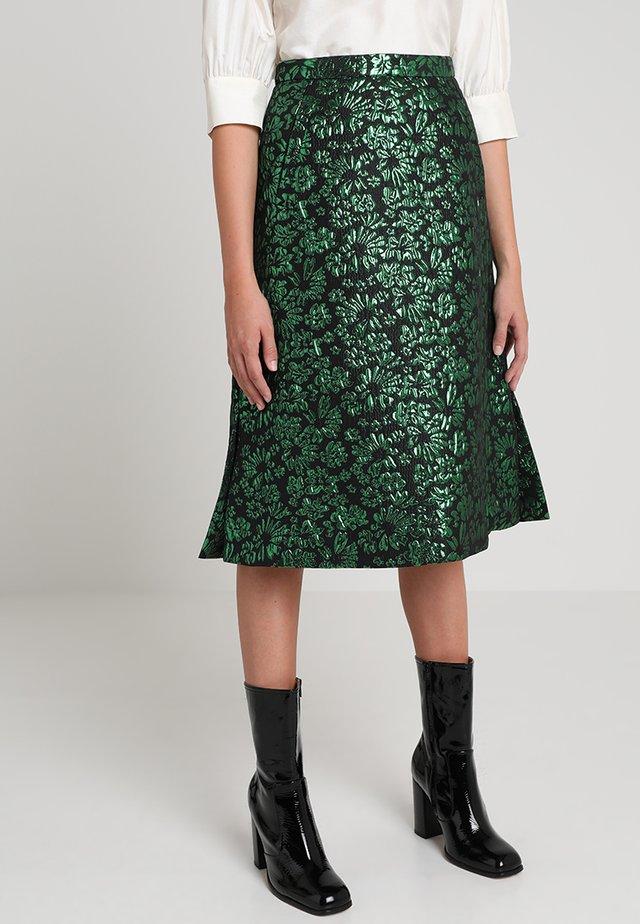 SALAL - A-line skirt - green
