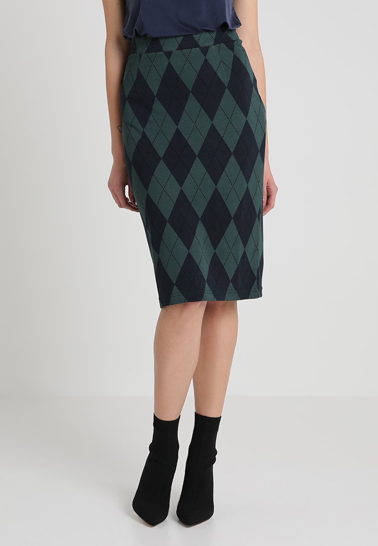 Baum und Pferdgarten - JAYCEE - Pencil skirt - green blue