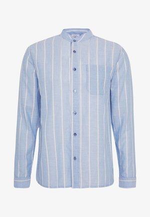 GRANDAD COLLARED STRIPE SHIRT - Skjorter - blue