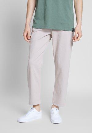 WIDE LEG ECRU TROUSER - Pantaloni - beige