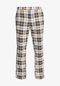 Brooklyn Supply Co. - CHECK SLIM TROUSER - Kalhoty - brown - 3