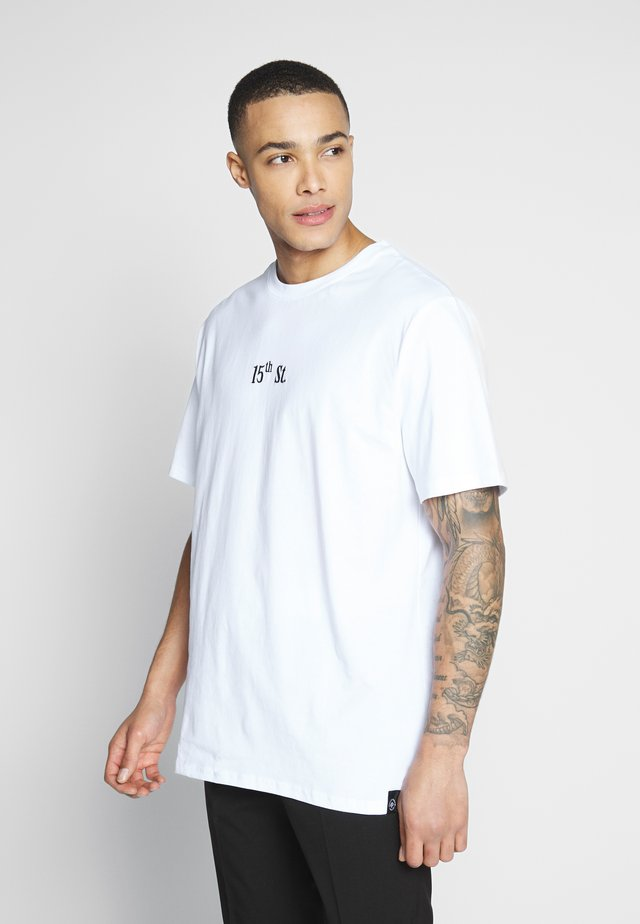 FRONT AND BACK GRAPHIC TEE - Printtipaita - white