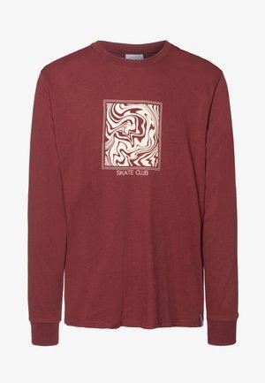 SKATE CLUB GRAPHIC LONG SLEEVE TEE - Långärmad tröja - brown