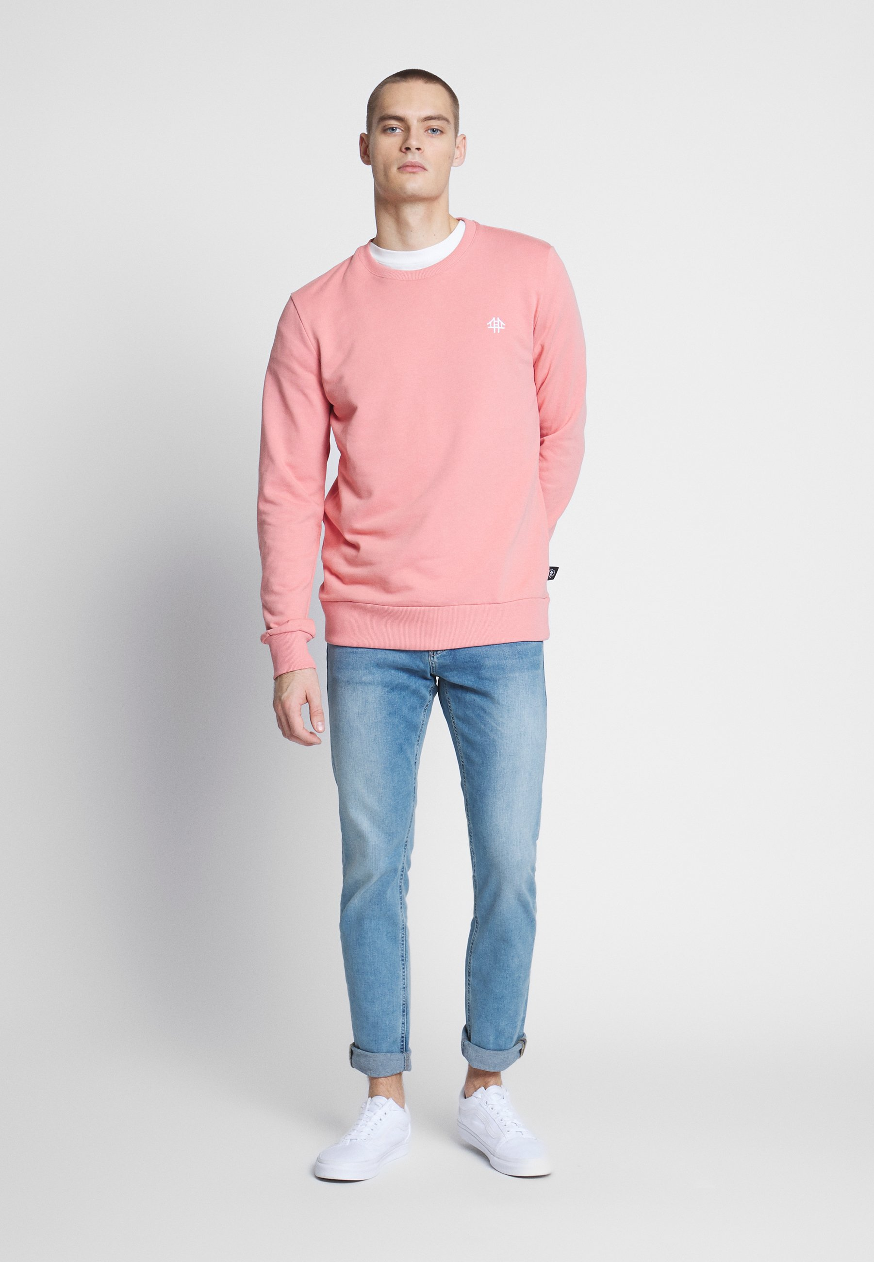 Brooklyn Supply Co. Relaxed Embroidery Sweater - Pink
