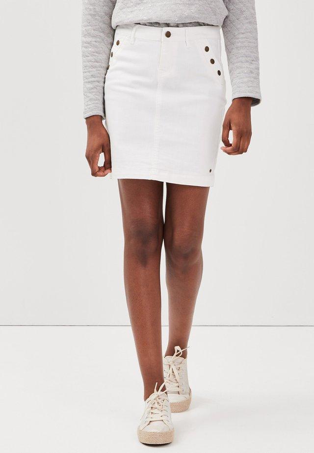 Jupe en jean - blanc