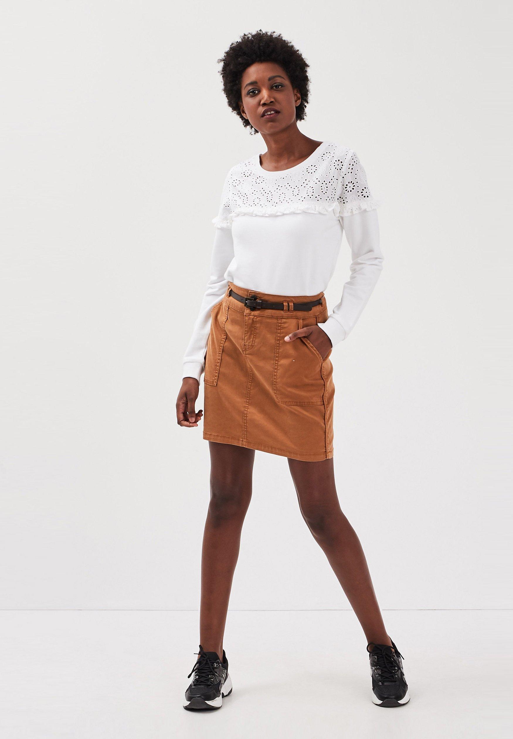 BONOBO Jeans T shirt à manches longues white ZALANDO.FR