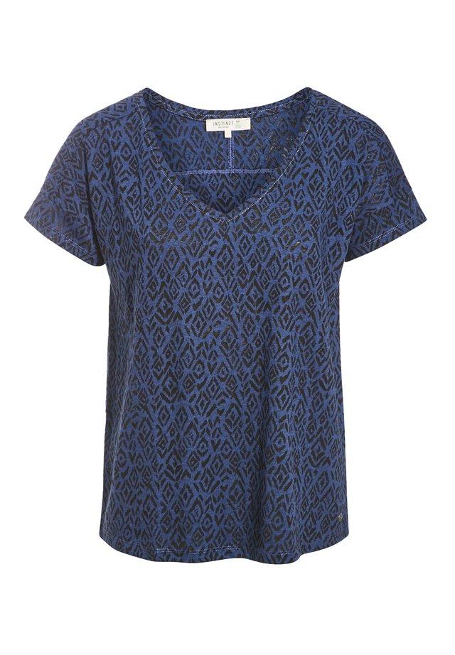 UMWELTBEWUSSTES  - T-shirt imprimé - bleu marine