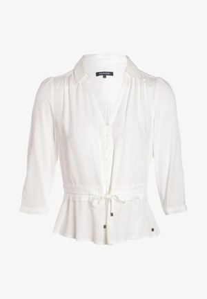 MIT GÜRTEL - Button-down blouse - white