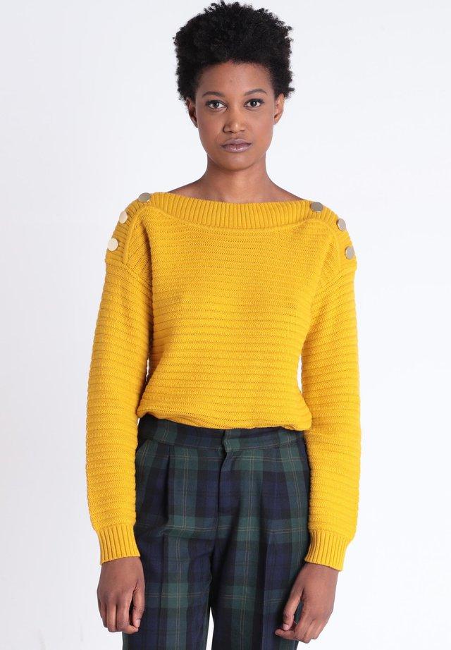 MIT KNÖPFEN - Jersey de punto - yellow