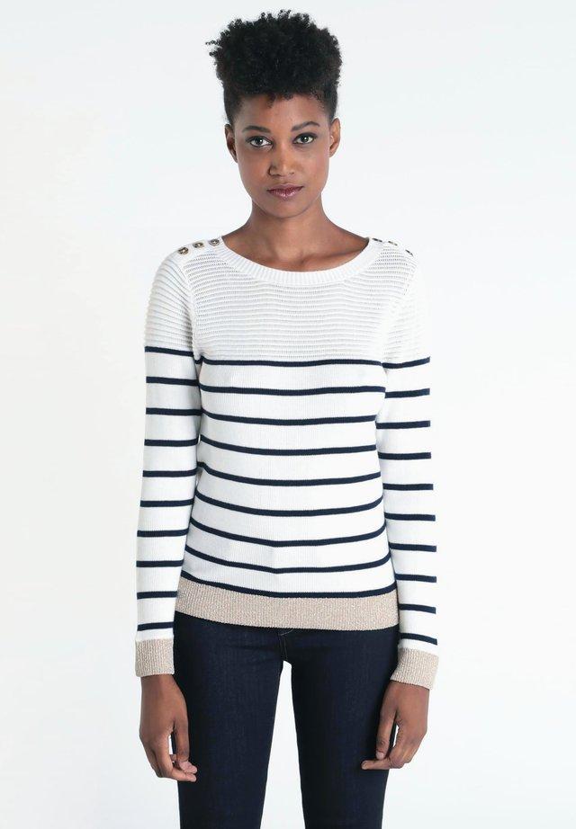 MIT KNÖPFEN - Jersey de punto - white