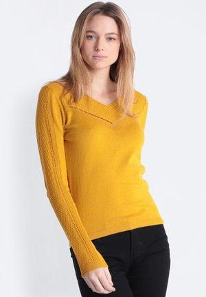Jersey de punto - mustard yellow