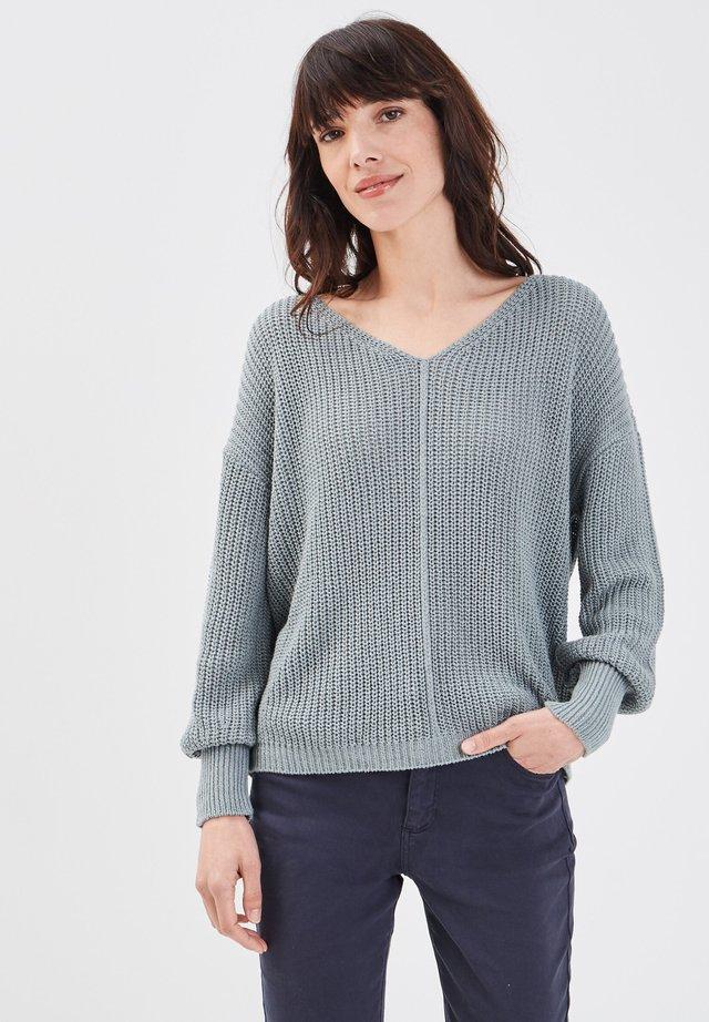 MIT LANGEN ÄRMELN - Strickpullover - dark grey