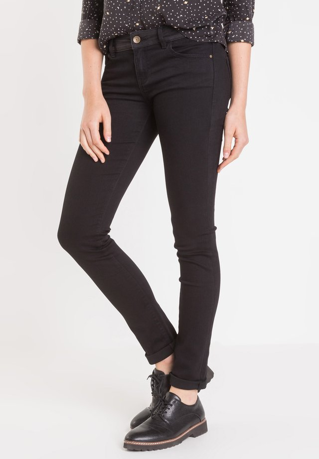 MIT GÜRTEL - Jean slim - black denim