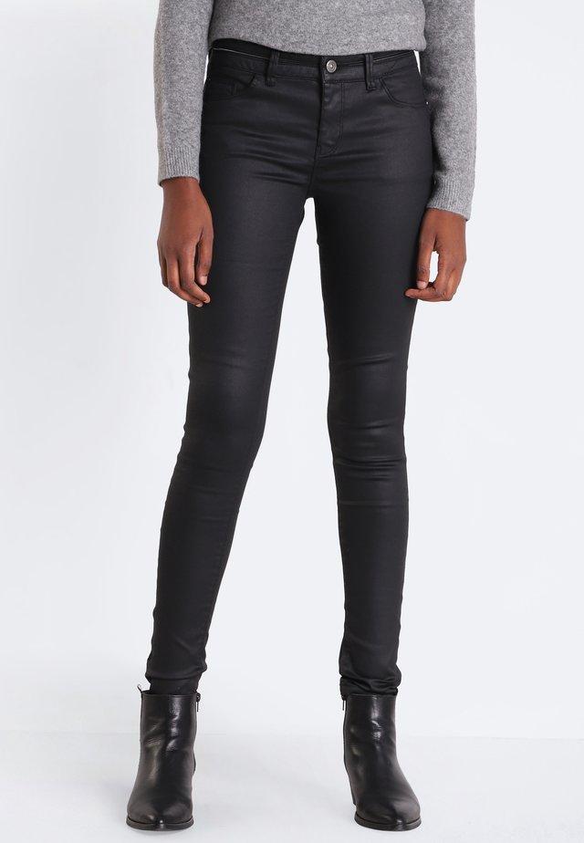 Jeans Skinny Fit - coated black denim