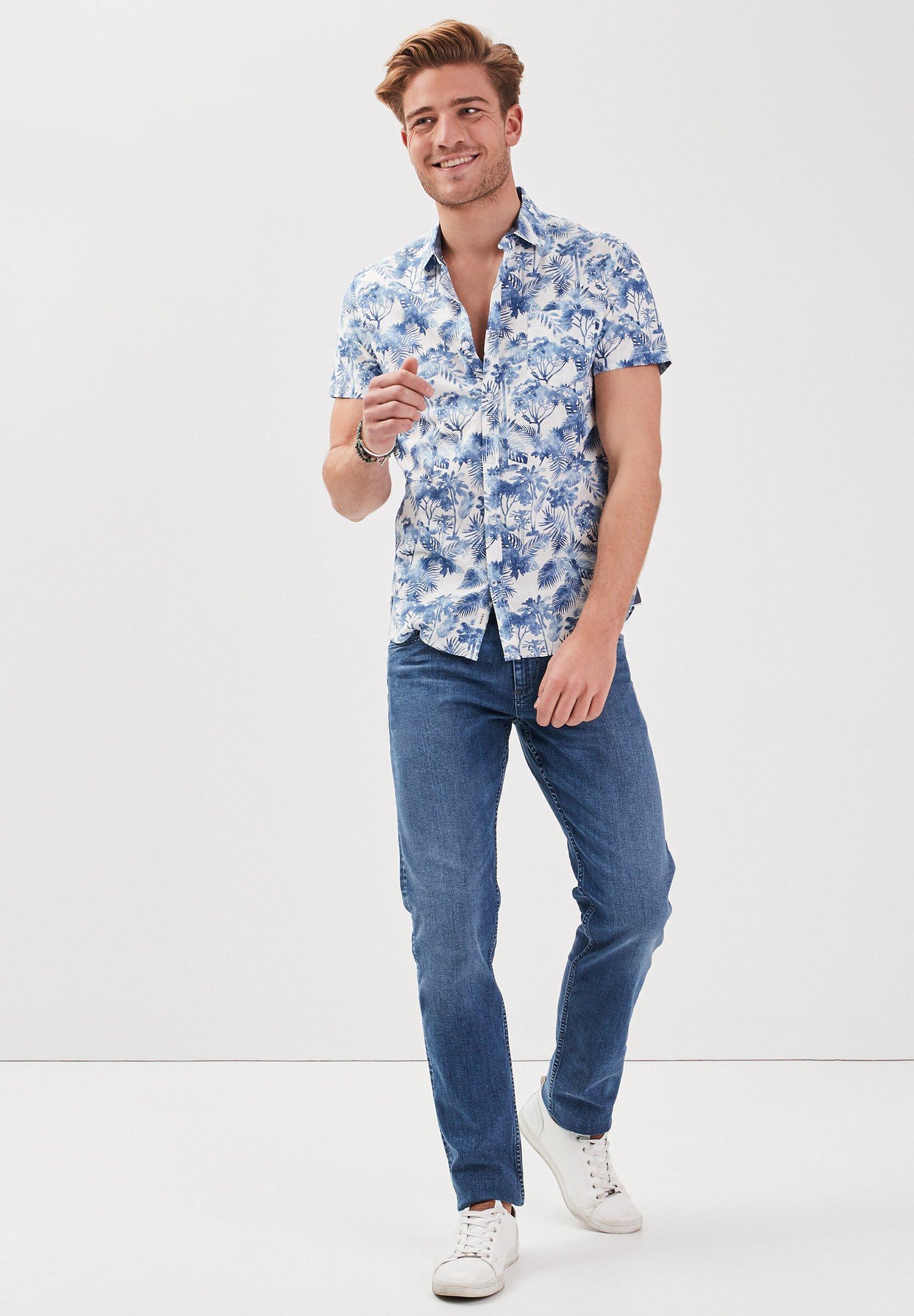 BONOBO Jeans MIT KURZEN ÄRMELN Chemise blue ZALANDO.FR