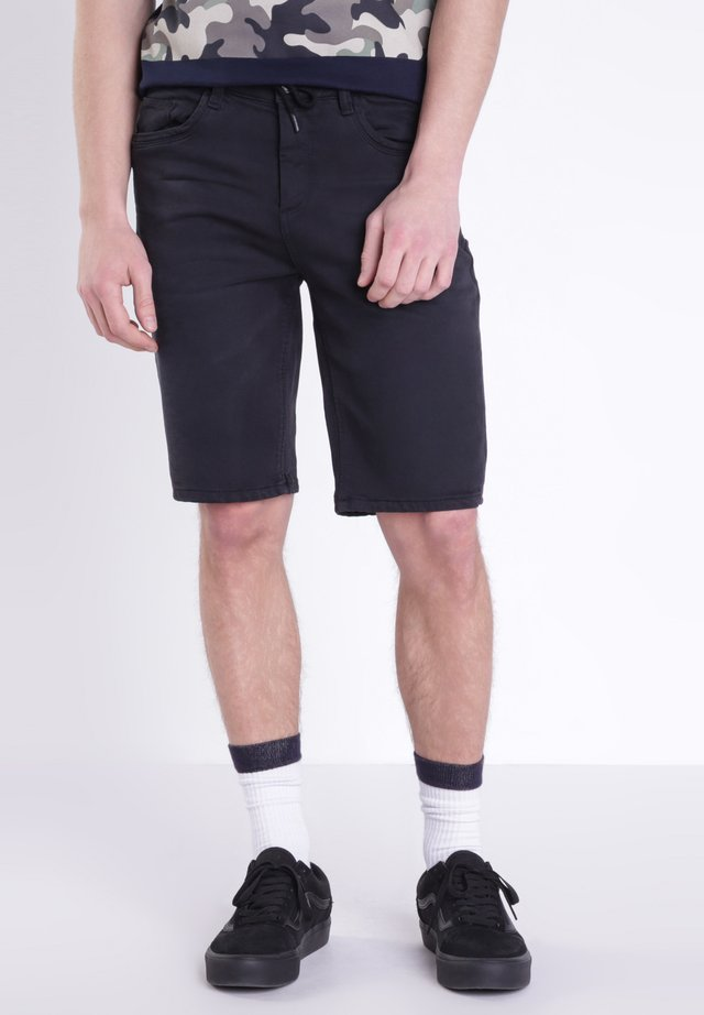 BERMUDA - Jeans Shorts - black denim