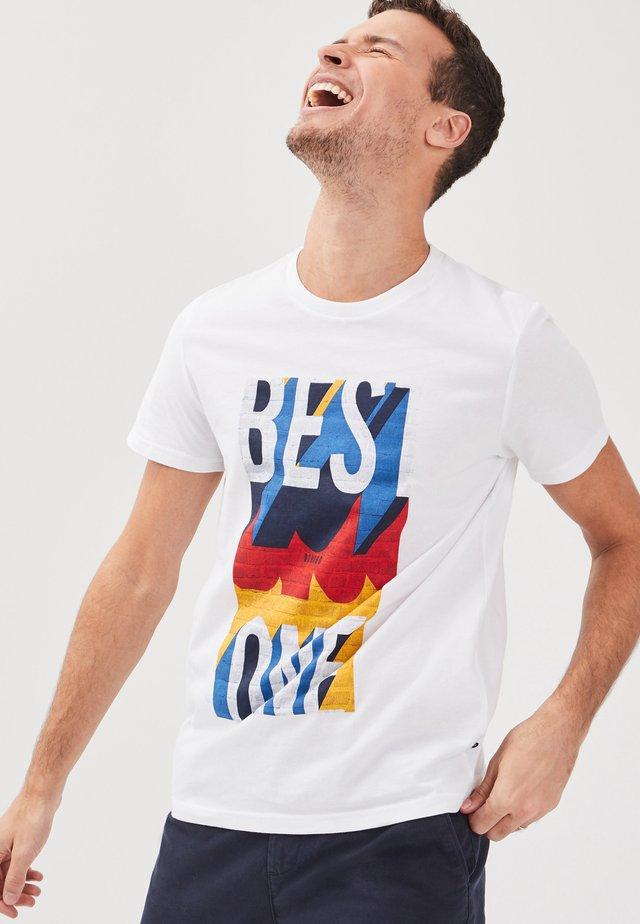 INSTINCT - T-shirt print - white