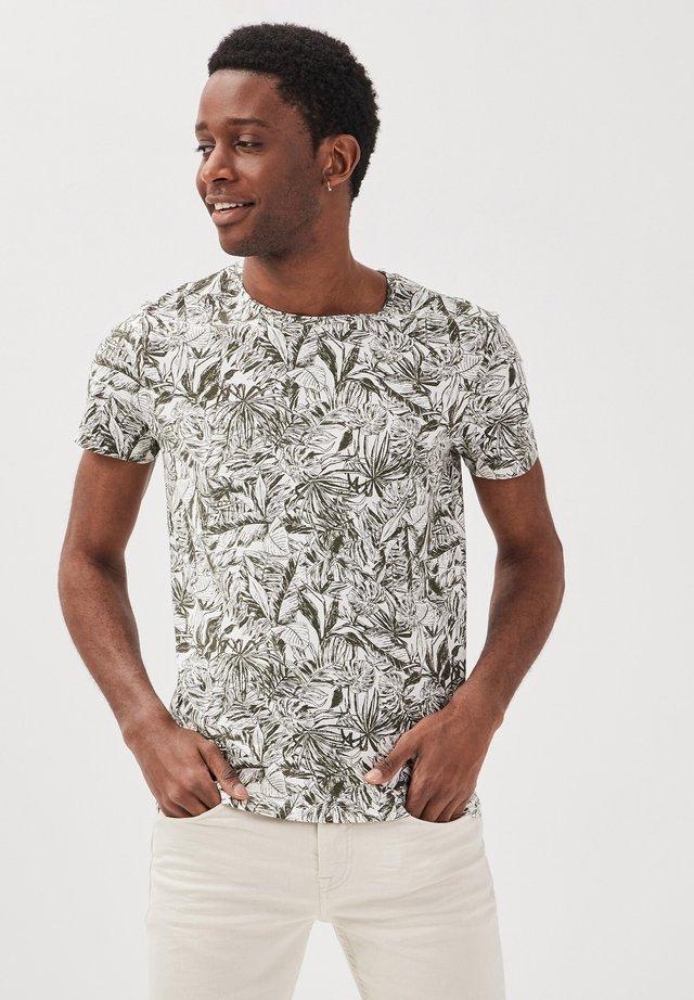 T-shirt imprimé - ecru