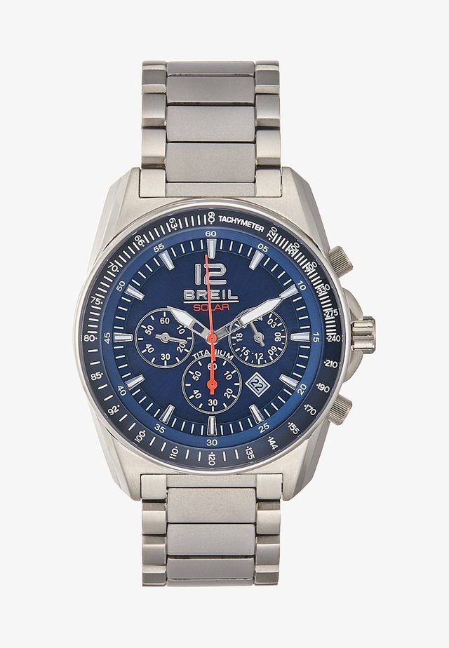 Chronograph watch - silver-coloured/blue