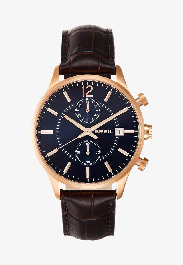 CONTEMPO - Chronograph watch - brown/blue