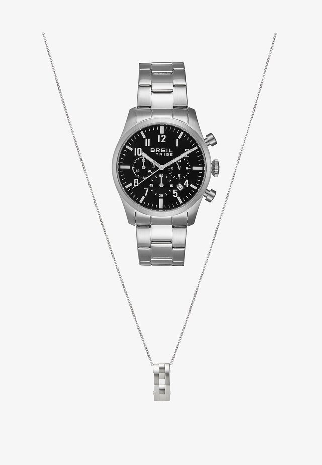 CLASSIC GIFT SET - Chronograph watch - silver-coloured/black