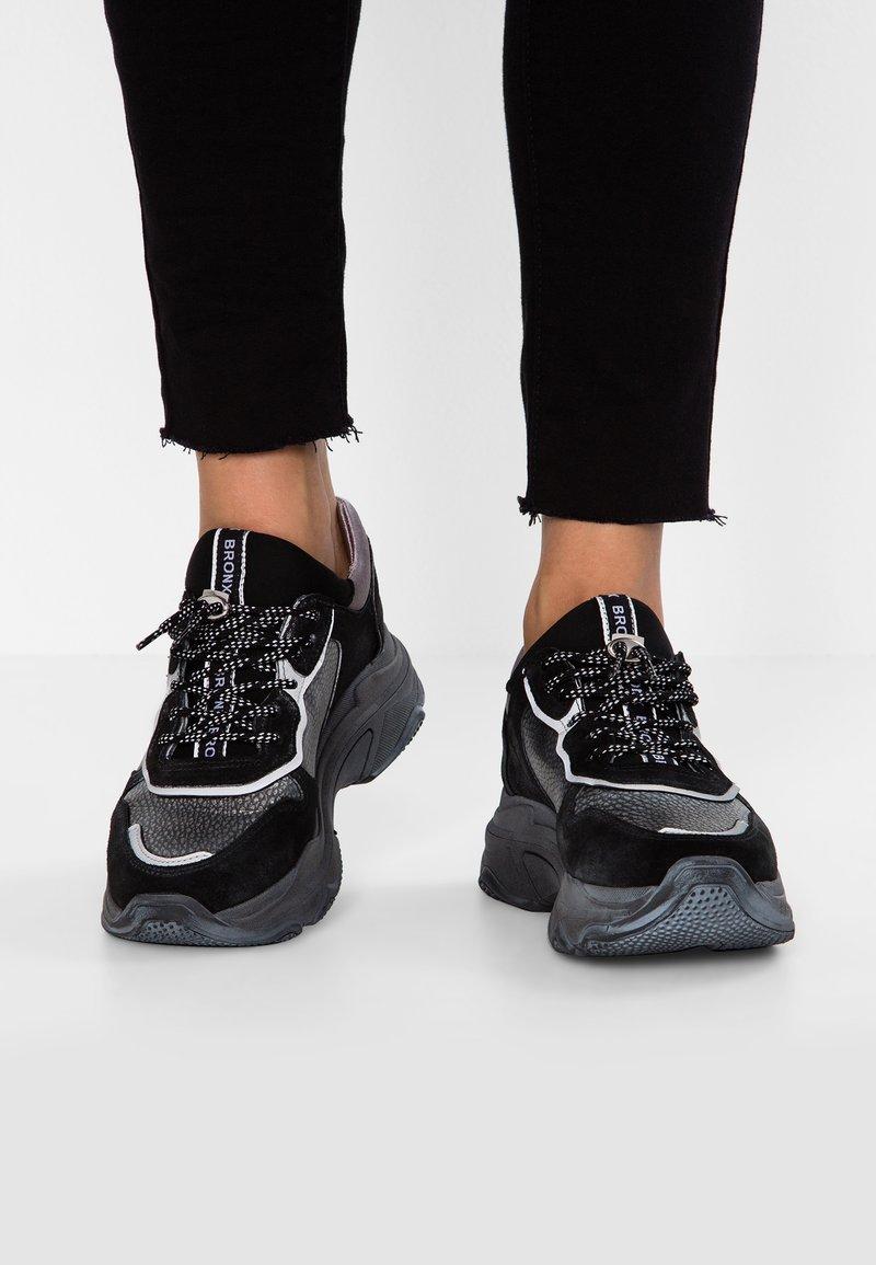 Bronx - BAISLEY - Sneakers laag - black vintage