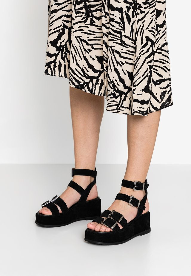 WEGGY - Platform sandals - black