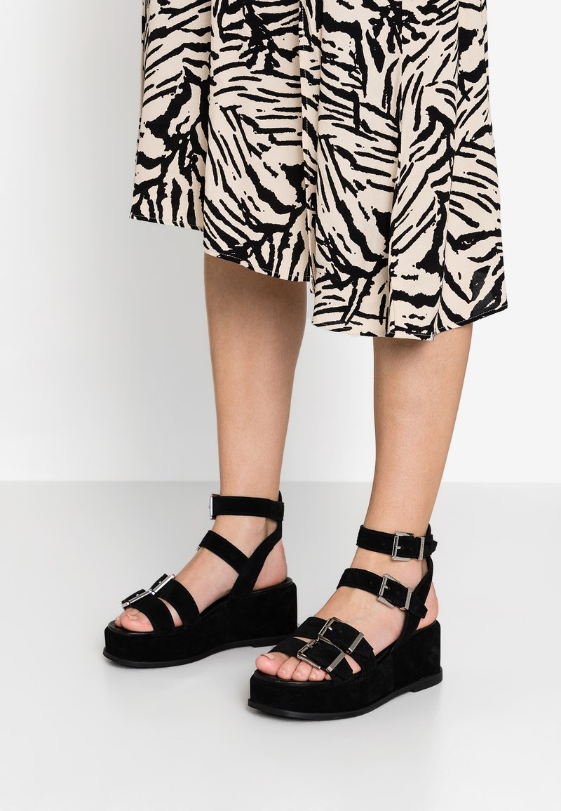 Bronx - WEGGY - Platform sandals - black