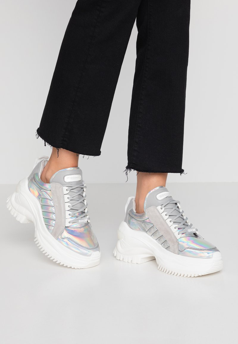 Bronx - CHAINY - Sneakers basse - multicolor metallic/silver